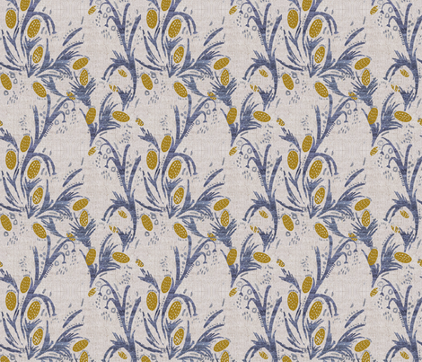 FRENCH_LINEN_THISTLE fabric by holli_zollinger on Spoonflower - custom fabric