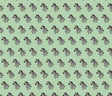 Sweet pastels african zebra safari cool trendy animals design for kids soft mint gender neutral fabric by littlesmilemakers on Spoonflower - custom fabric