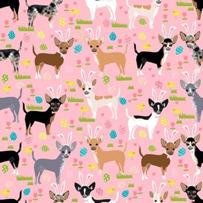 chihuahua dogs easter fabric cute pastel easter egg spring dog design