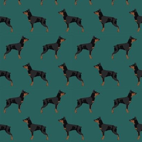 miniature pinscher dog fabric best dogs design - eden green