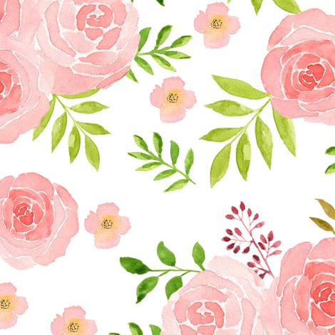 flower watercolor fabric by teart on Spoonflower - custom fabric