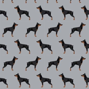 miniature pinscher dog fabric best dogs design - quarry grey