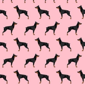 miniature pinscher dog fabric best dogs design - blossom pink