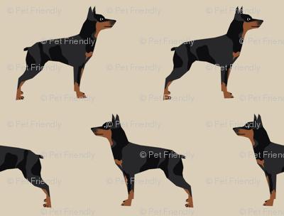 miniature pinscher dog fabric best dogs design - sand