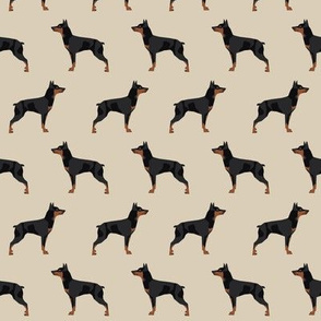 miniature pinscher dog fabric best dogs design - sand