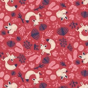 Fennec fox red
