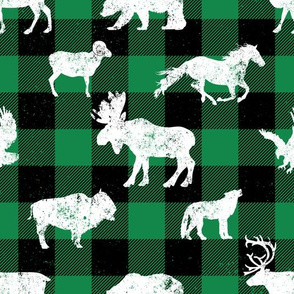 Cabin Buffalo Plaid Green Black