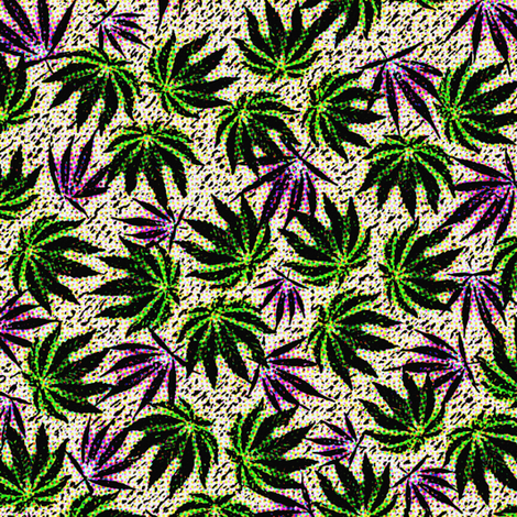 Sativa-Indica Jumble fabric by camomoto on Spoonflower - custom fabric