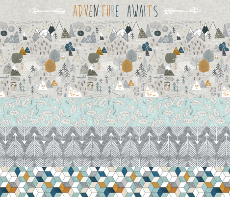 """Max's Adventure Quilt (a) 42"""" wide fabric by nouveau_bohemian on Spoonflower - custom fabric"""