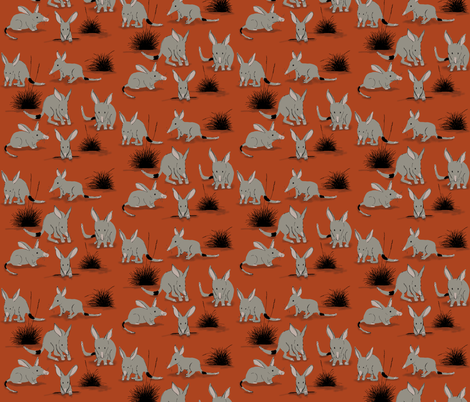 Desert Totem fabric by nat_olly on Spoonflower - custom fabric