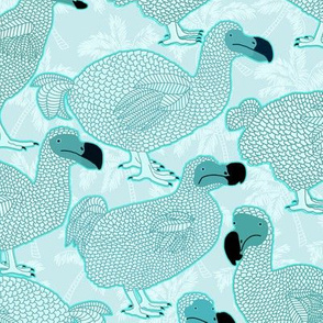 Dodos in Aqua - LARGE