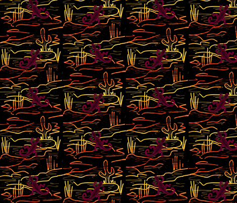 In the dark fabric by endla on Spoonflower - custom fabric
