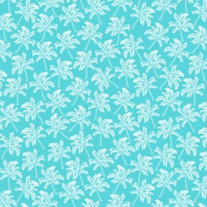 Palm Trees in Aqua - SMALL