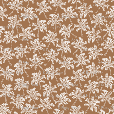 Palm Trees in Brown - LARGE