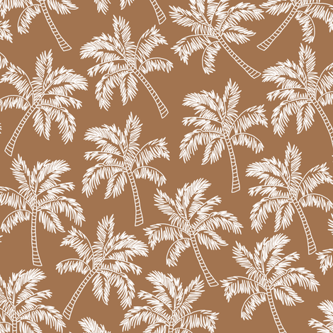 Palm Trees in Brown - LARGE fabric by rubydoor on Spoonflower - custom fabric