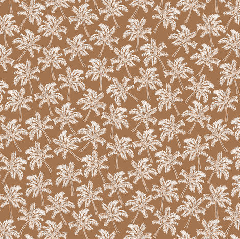 Palm Trees in Brown - SMALL fabric by rubydoor on Spoonflower - custom fabric