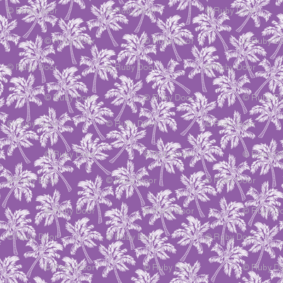 Palm Trees in Violet - LARGE