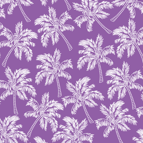 Palm Trees in Violet - LARGE fabric by rubydoor on Spoonflower - custom fabric
