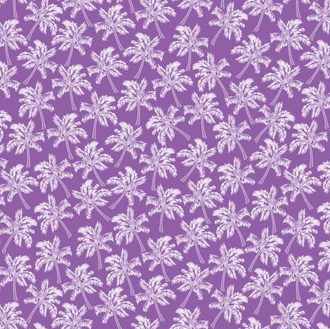 Palm Trees in Violet - SMALL fabric by rubydoor on Spoonflower - custom fabric