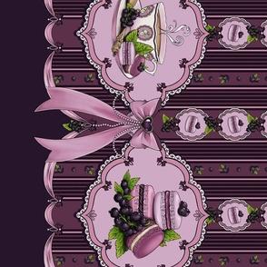 Black currant macarrons Lolita Print