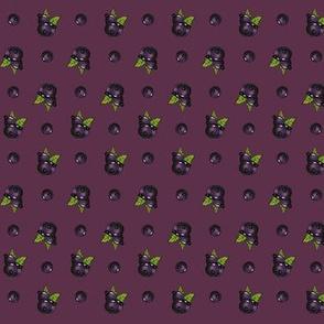 Black currant Polka Dots