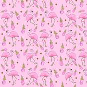 Flamingo pink & gold
