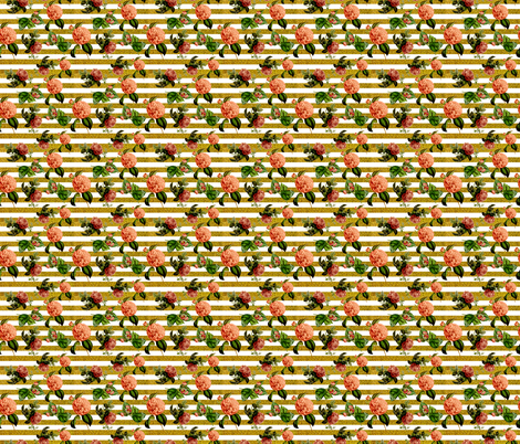 floral glitter fabric by sara_gerrard on Spoonflower - custom fabric