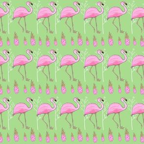 Flamingo &Pineapples