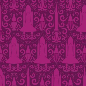 Rocket Science Damask (Pink)