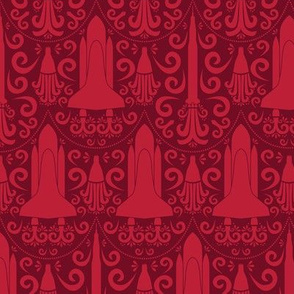 Rocket Science Damask (Red)