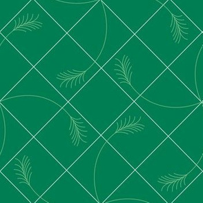 green wheat white grid dark background