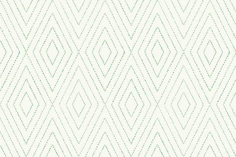 diamond_dash_painted in green fabric by danikaherrick on Spoonflower - custom fabric