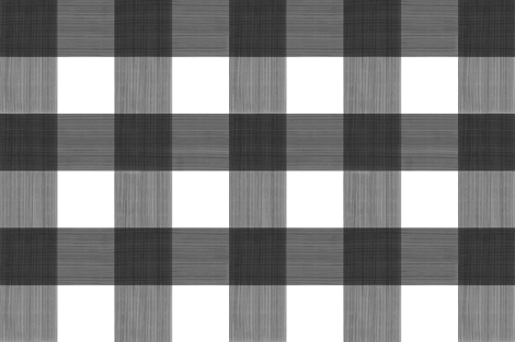 "Black Large 6"" Buffalo Plaid  fabric by danika_herrick on Spoonflower - custom fabric"