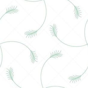 green wheat white grid