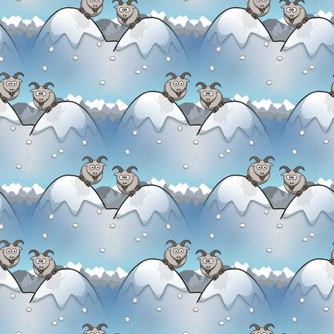 funny goats fabric by stofftoy on Spoonflower - custom fabric
