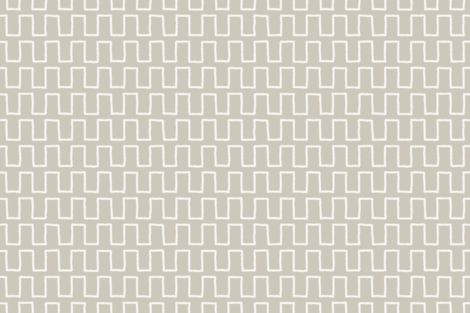 Stepped_white_on_putty fabric by danika_herrick on Spoonflower - custom fabric