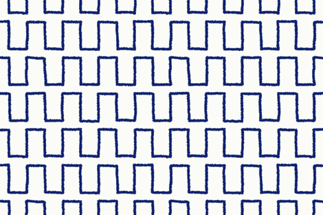 Stepped_in navy fabric by danikaherrick on Spoonflower - custom fabric