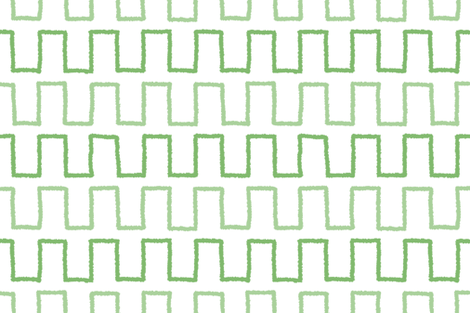 Stepped_in greenery fabric by danikaherrick on Spoonflower - custom fabric