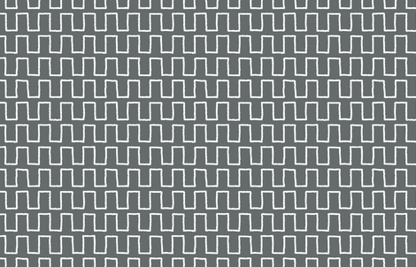 Stepped_white_on charcoal fabric by danika_herrick on Spoonflower - custom fabric