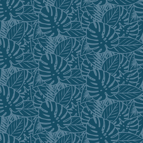 Exotic leaves print