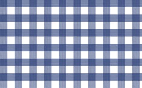 "Navy 3"" Buffalo Plaid  fabric by danika_herrick on Spoonflower - custom fabric"