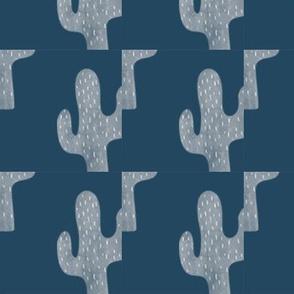 cacti on blue