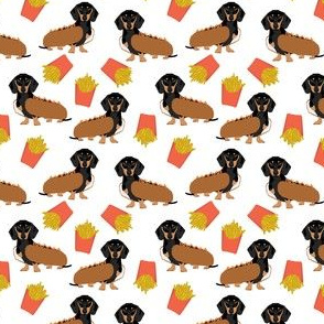 hot dog dachshund fabric funny dog fabric hot dogs and fries