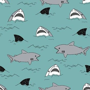 shark attack summer shark fin fabric water summer sports sharks