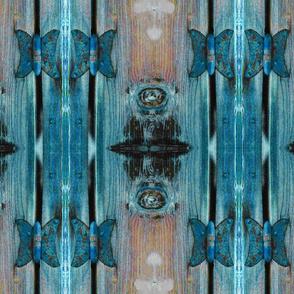 Butterfly hinge runner turquoise