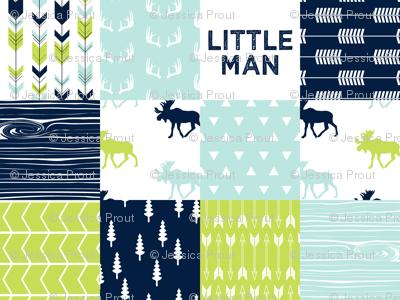 Bear Creek Patchwork Quilt Top Little Man Fabric