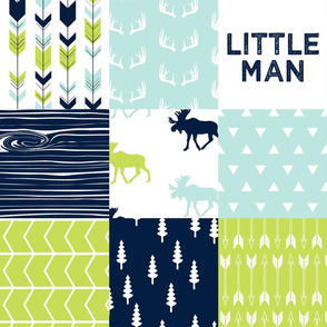 Bear Creek Patchwork Quilt Top || Little man