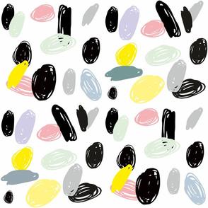 Sea pebbles on white