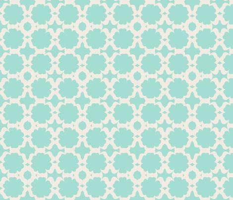 Morocco Garden- mint cream fabric by drapestudio on Spoonflower - custom fabric
