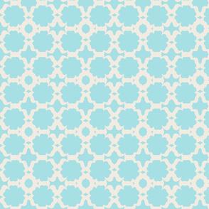 Morocco Garden- sky cream